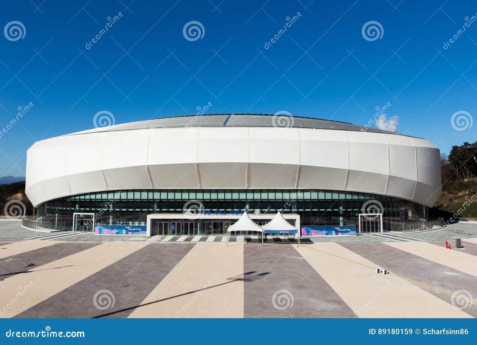 Gangneung South Korea January 2017 Gangneung Ice Arena Editorial Stock Image Image Of Pyeongchang Structure 89180159
