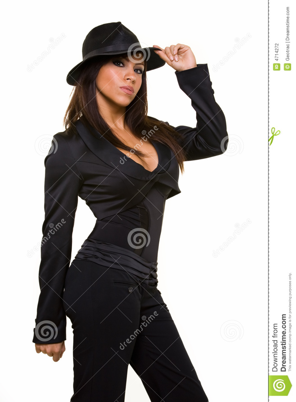 Gangster Attire Stock Photo Image Of Brunette Person