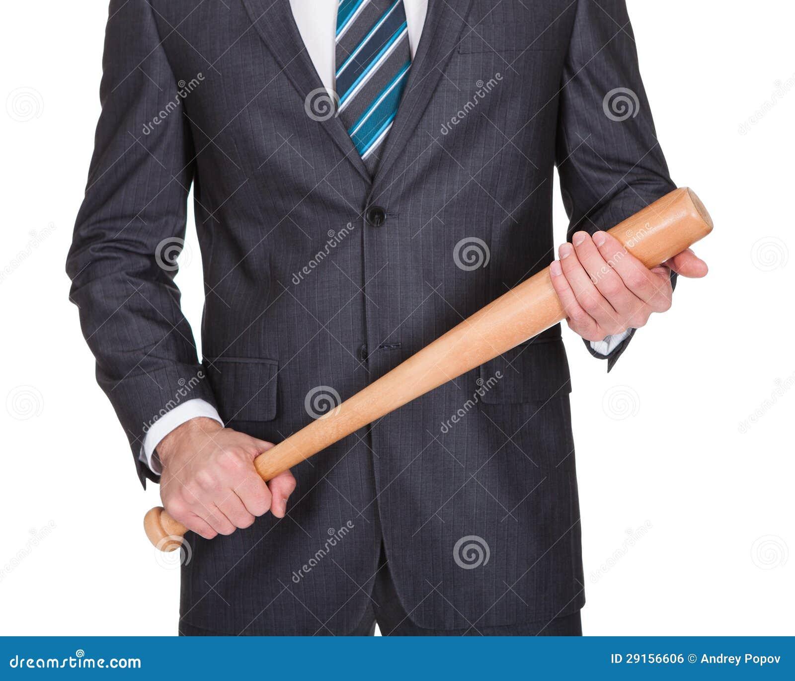 gangster with baseball bat royalty free stock image