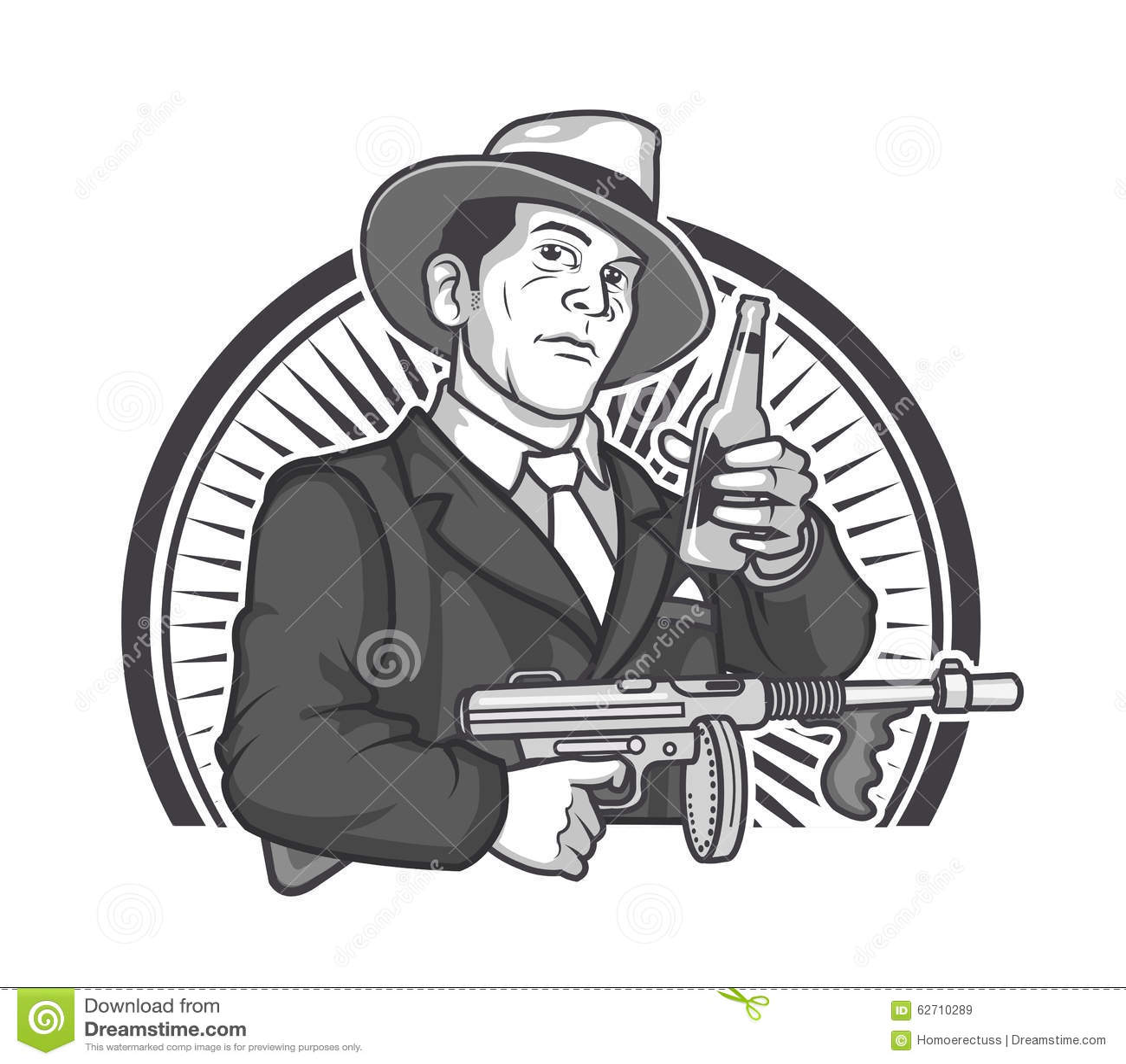 Gangster Beer Graphics Stock Vector Illustration Of Gangster 62710289