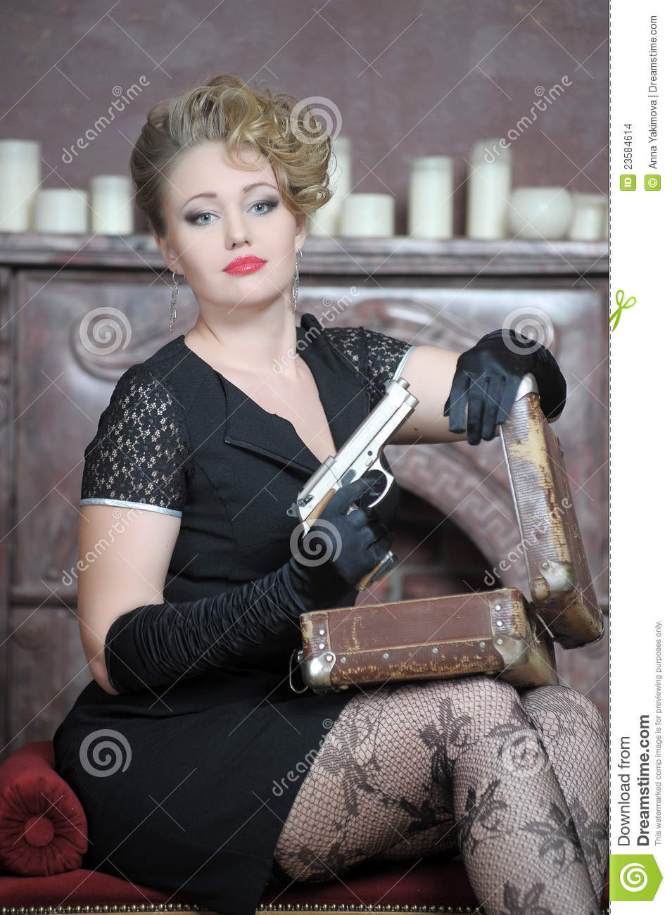 Gangster Girl Portrait Stock Images Image 23584614