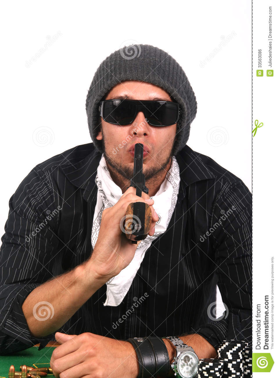 Man With Gun In Mouth 51