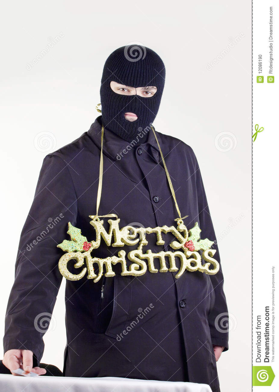 Gangster Merry Christmas Stock Photo - Image: 12086190