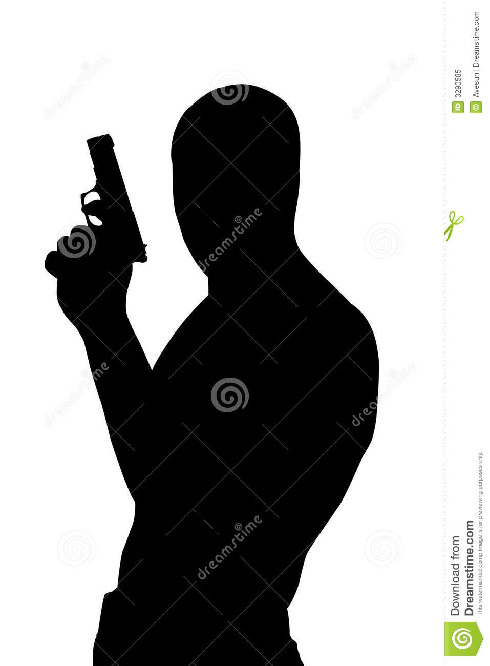 Gangster Silhouette Royalty Free Stock Photo Image 3290585
