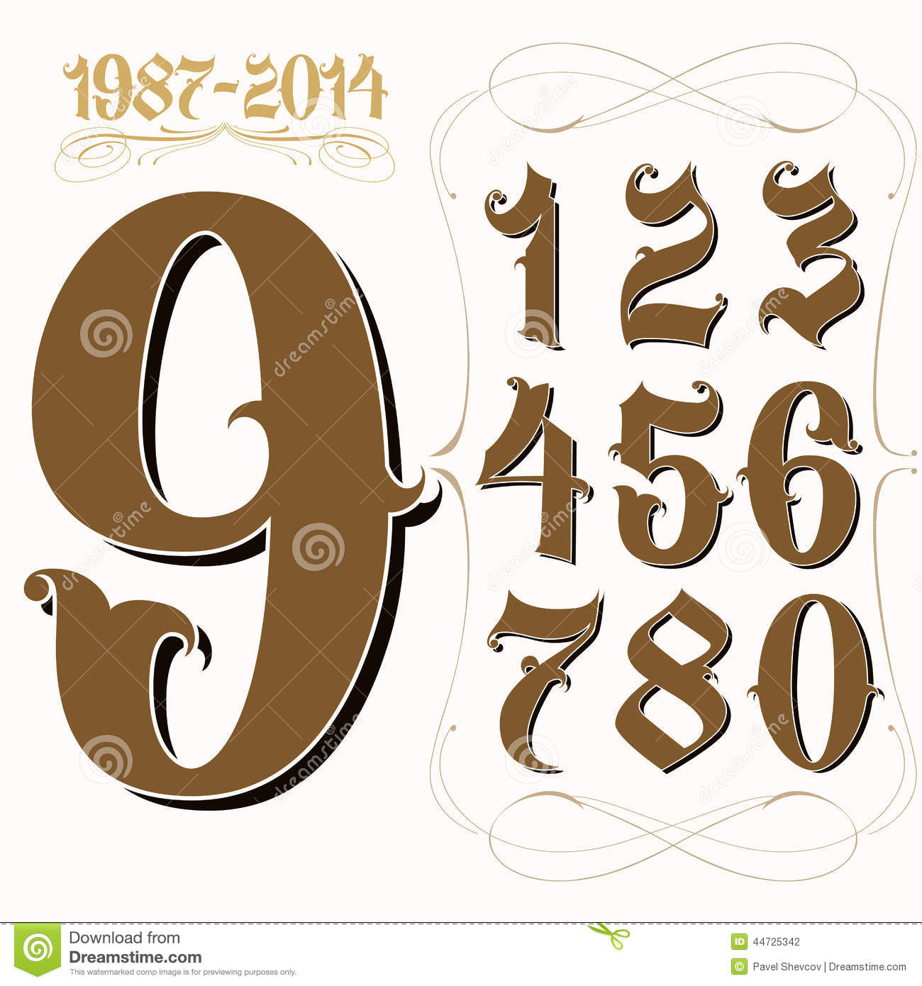 Gangster Tattoo Numbering Stock Illustration Of