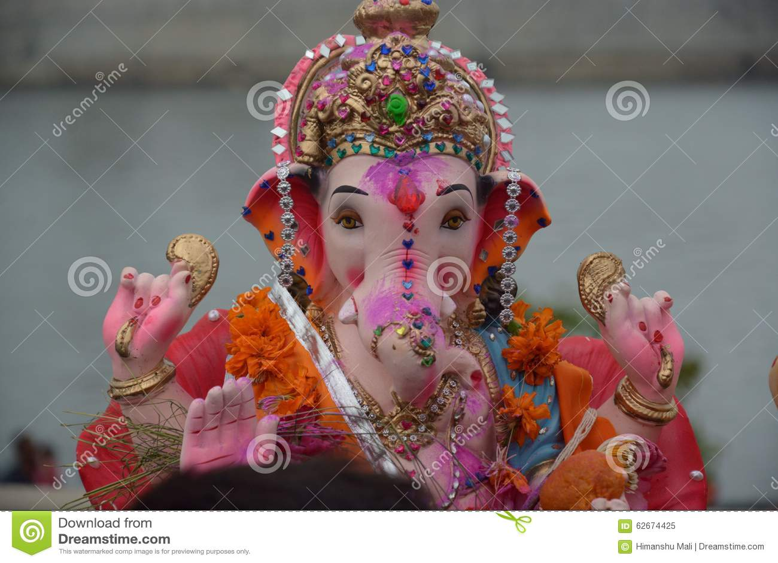 Download Images Of Ganpati Bappa: Ganpati Bappa Stock Photo