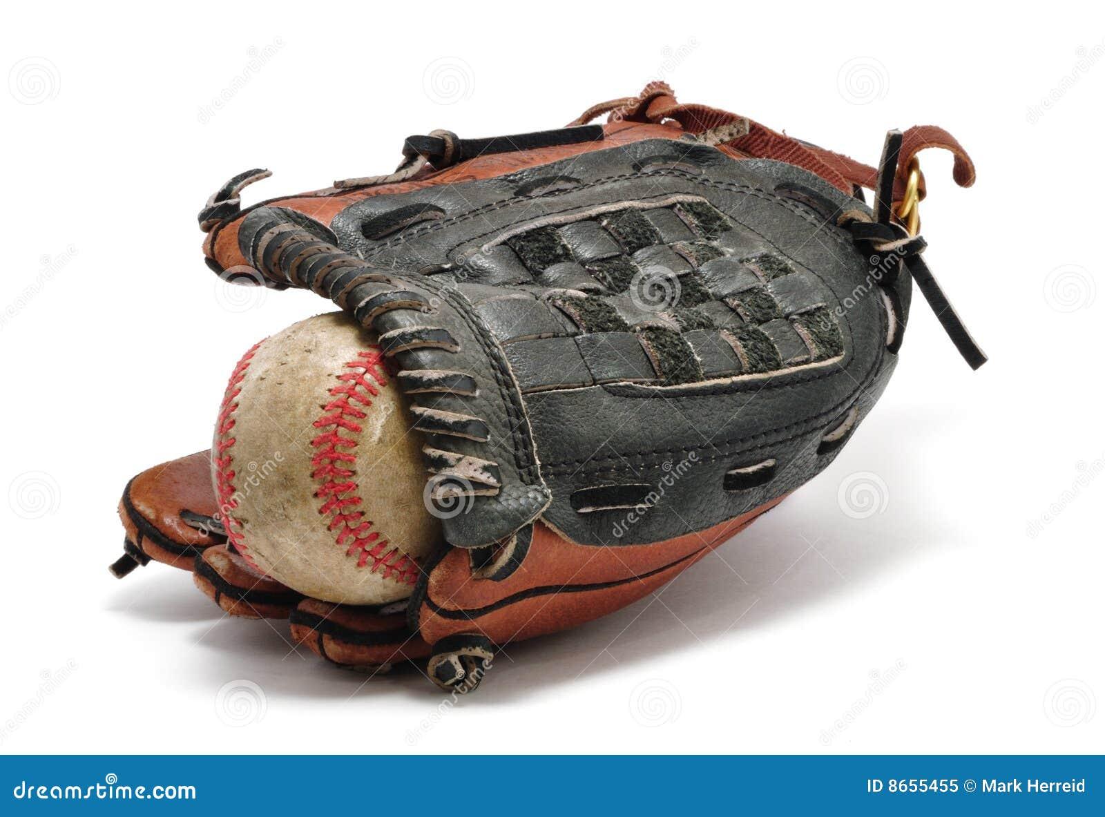 Gant de base-ball vieux
