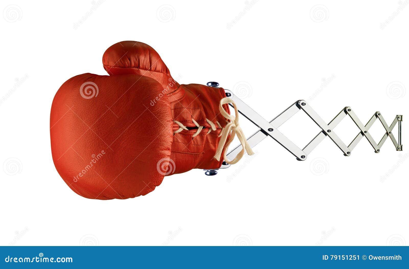 Gant de boxe rouge le ressort photo stock image 79151251 - Gant de boxe a lacet ...