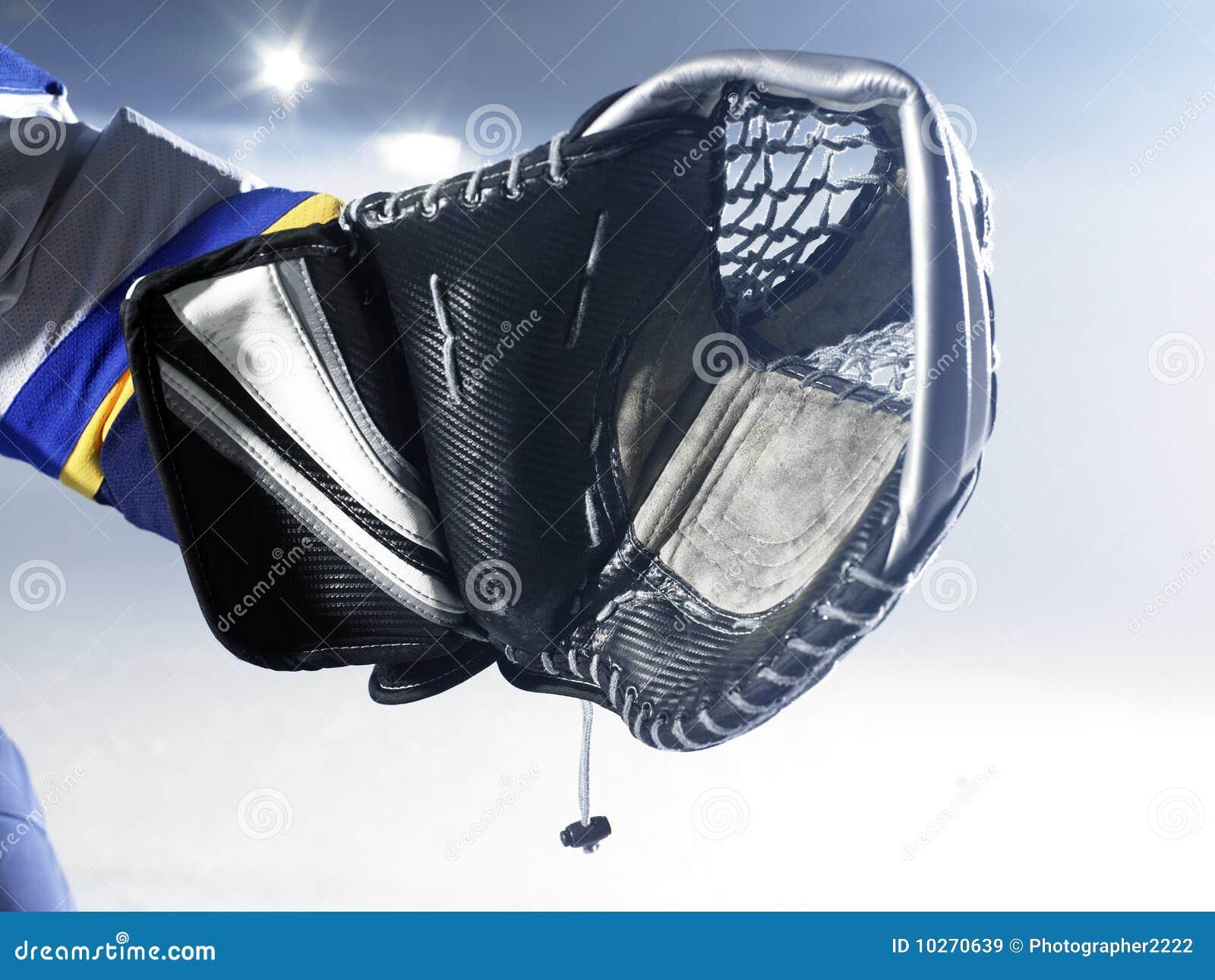 gant de gardien de but de hockey sur glace image stock image du conomiser glace 10270639. Black Bedroom Furniture Sets. Home Design Ideas