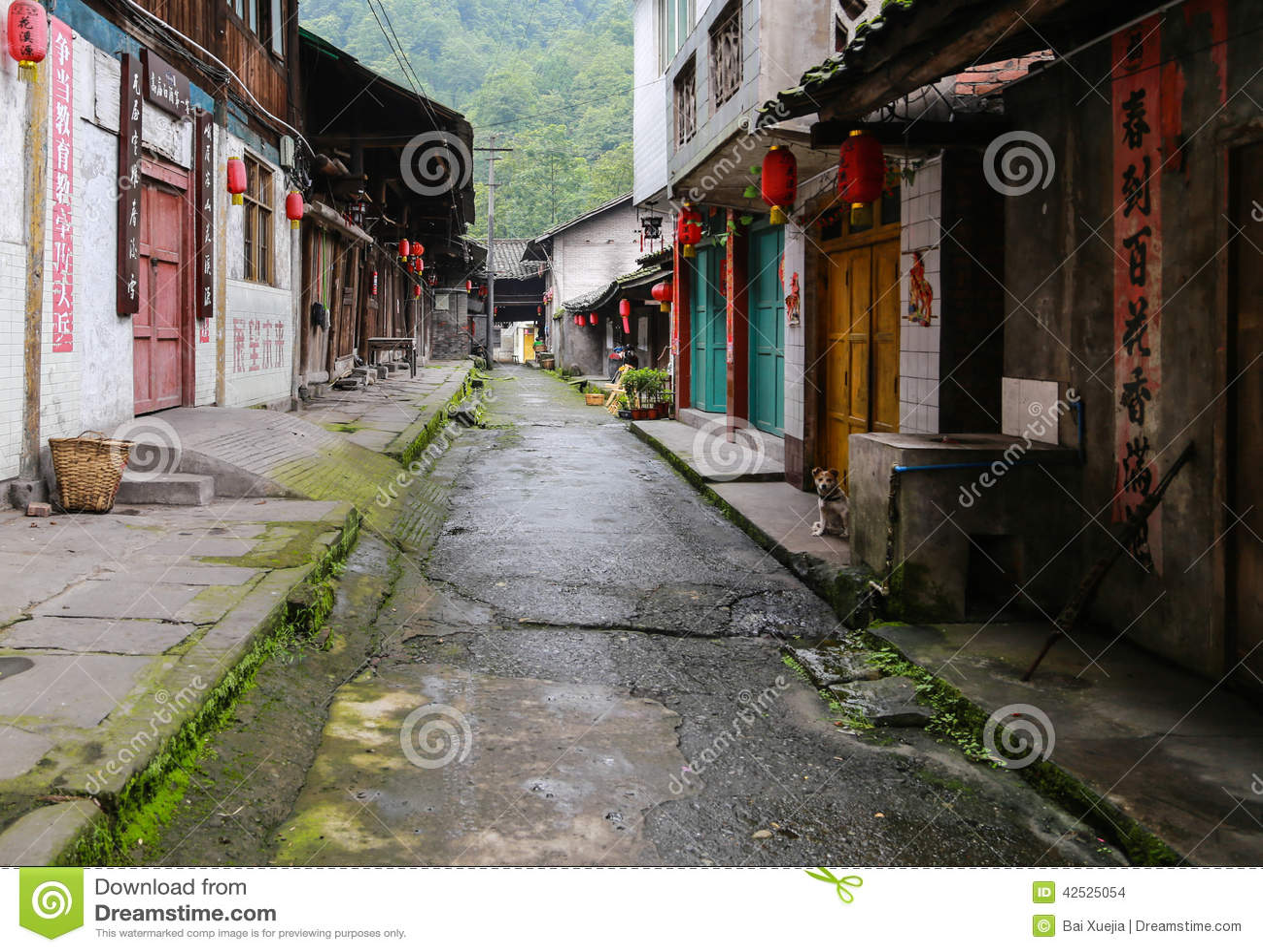 Gao miao miasteczko w Sichuan, porcelana