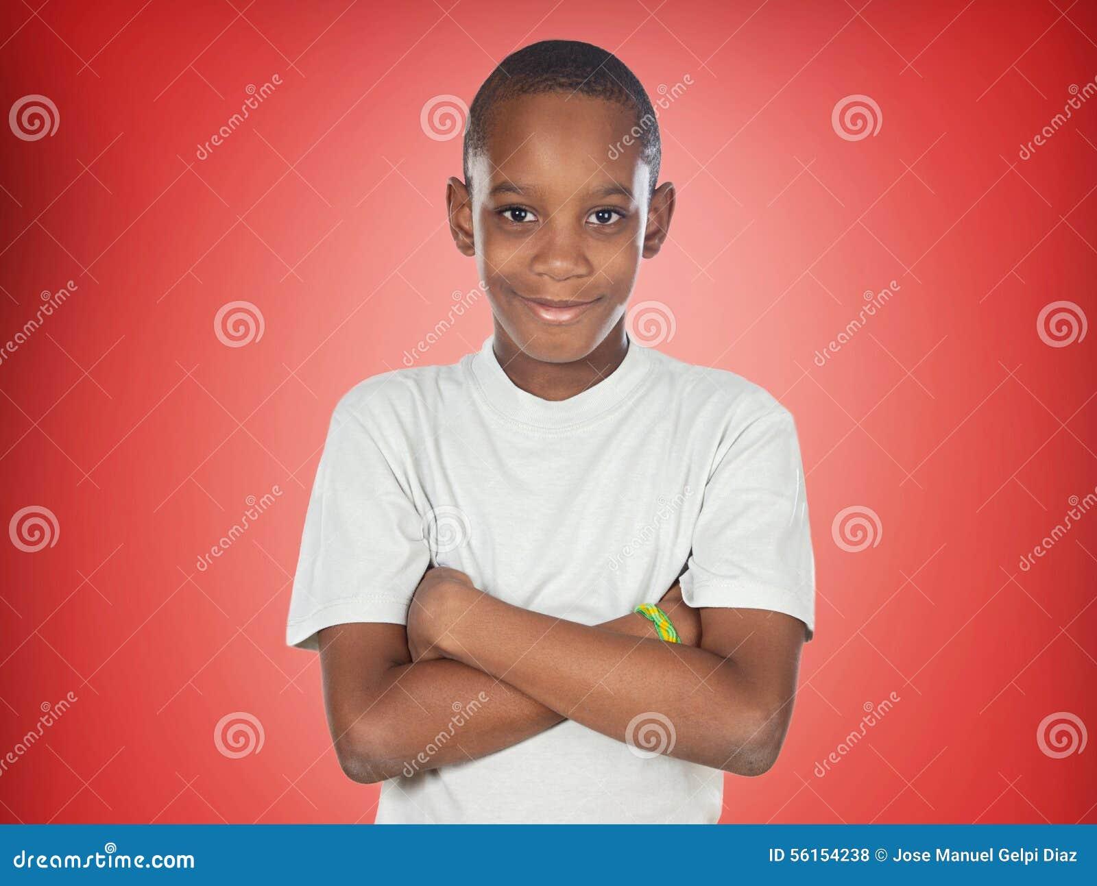 Garçon afro-américain d adolescent