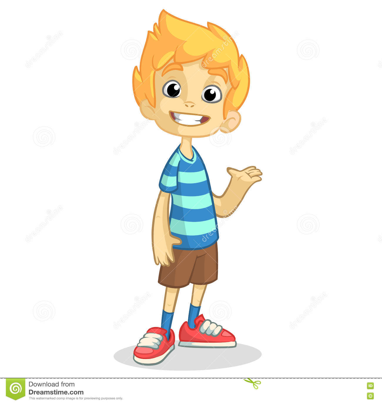 Gar on blond mignon ondulant et souriant dirigez l - Dessin petit garcon ...