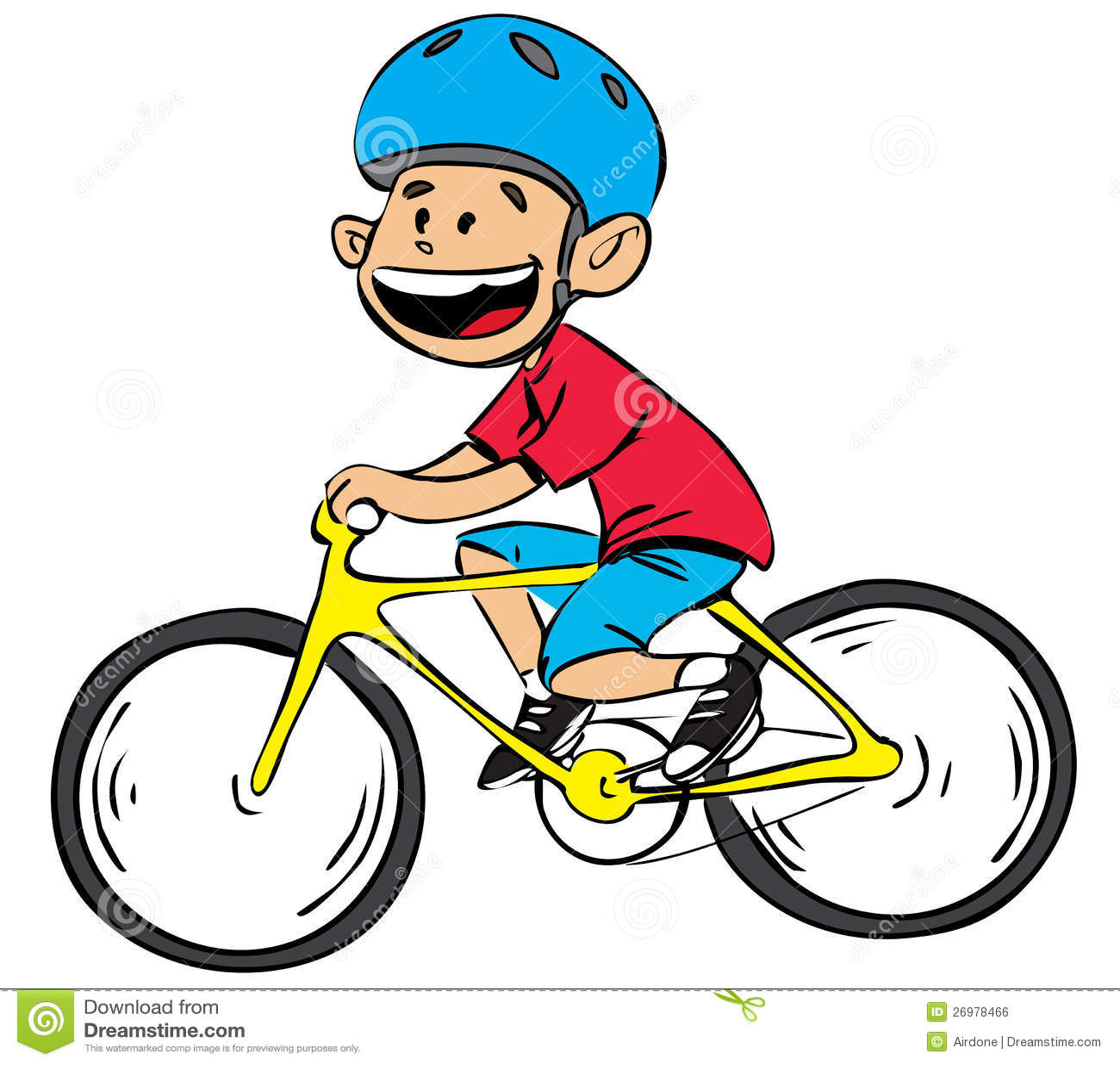 gar on de bicyclette en couleurs illustration de vecteur. Black Bedroom Furniture Sets. Home Design Ideas