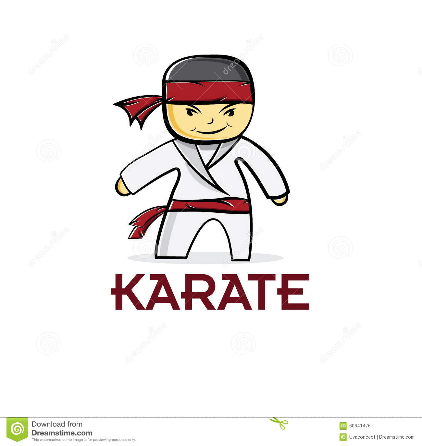 Garçon de karaté de judo