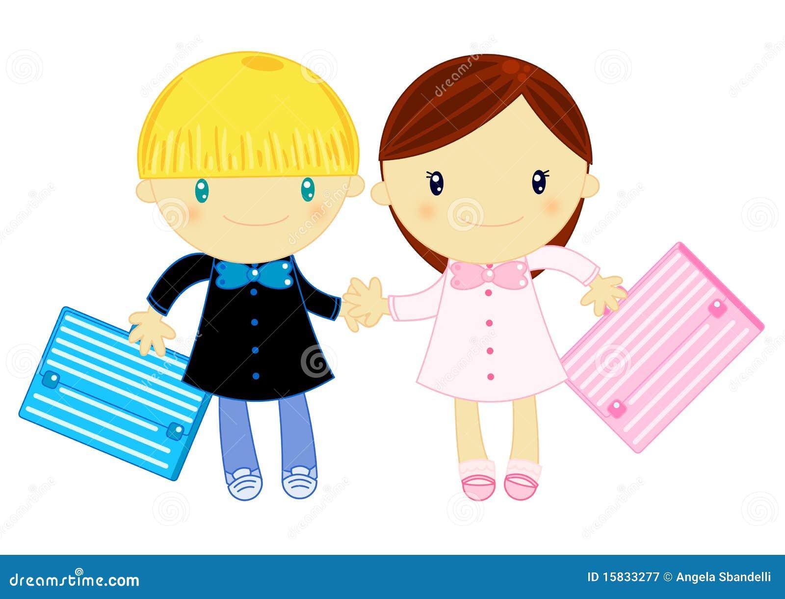... la chasuble d'école primaire avec le sac d'école sur le fond blanc