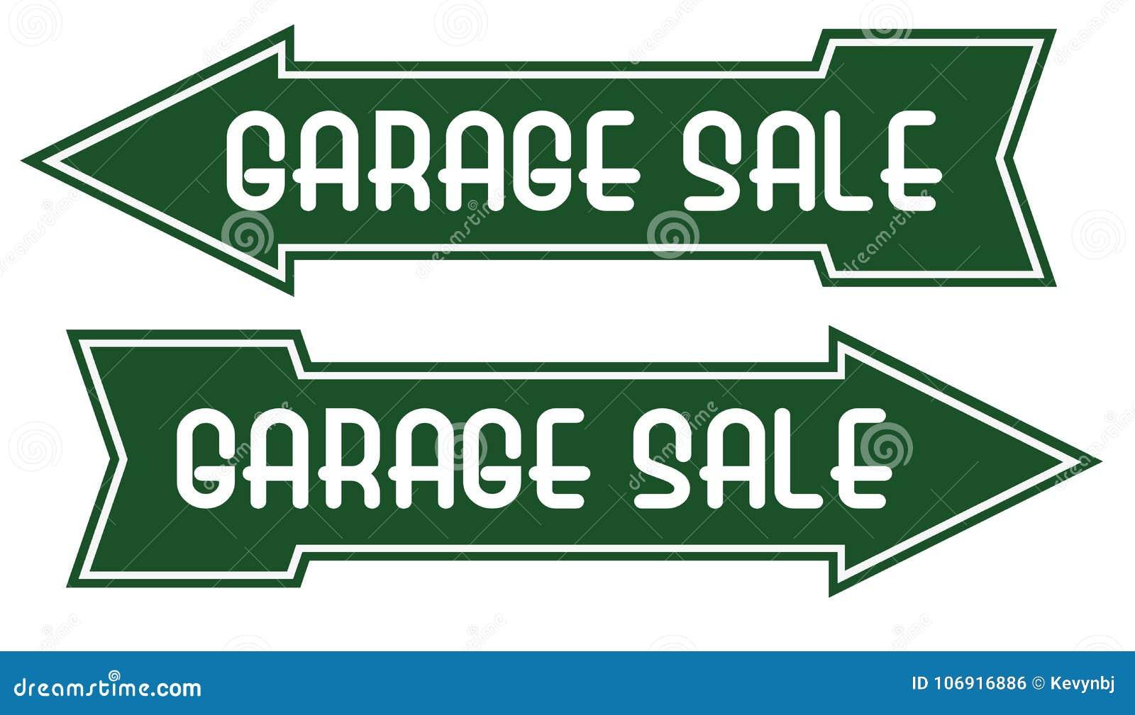 Garaż sprzedaży znaka Strzałkowaty Wskazuje sposób