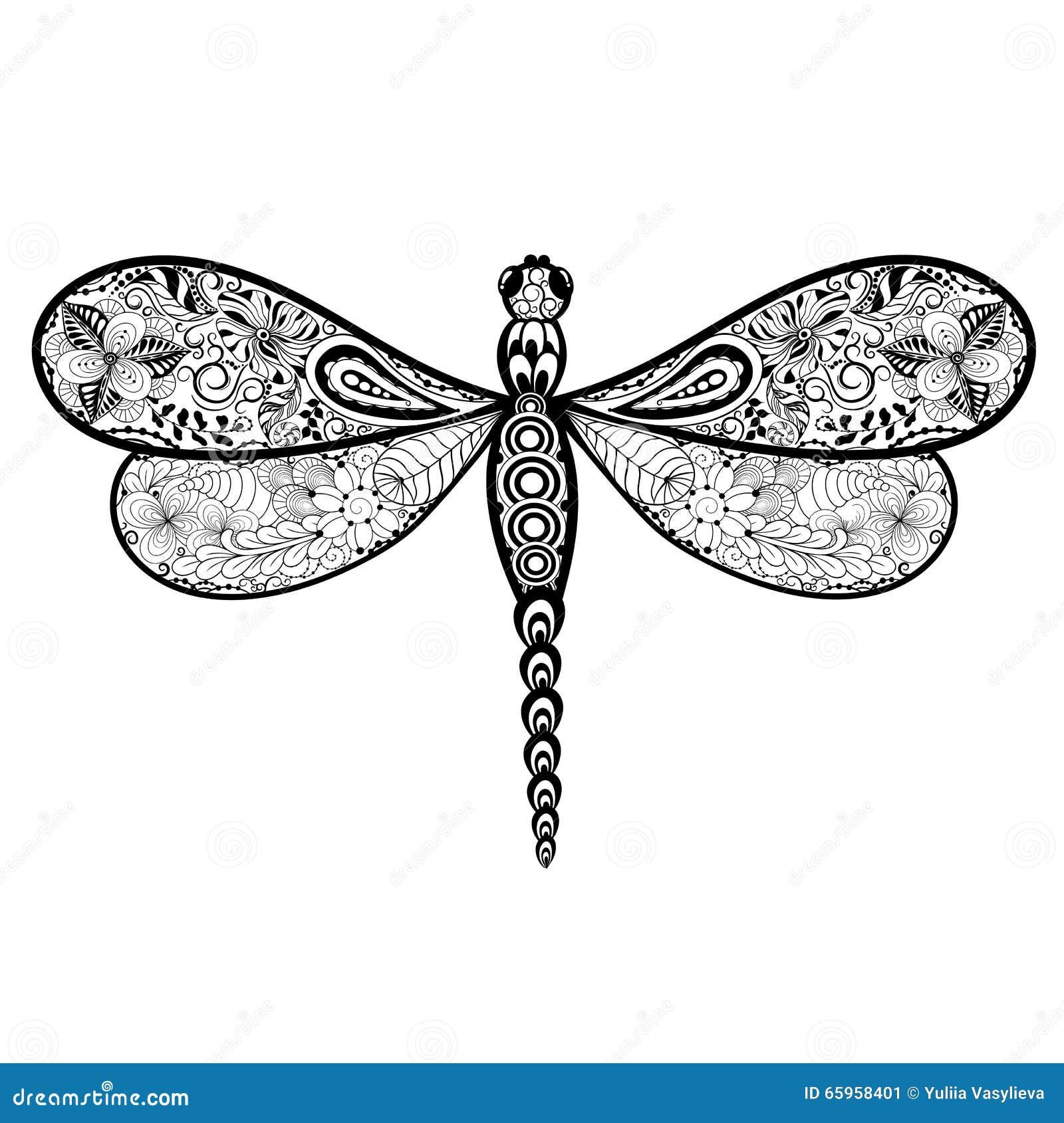 Garabato de la libélula