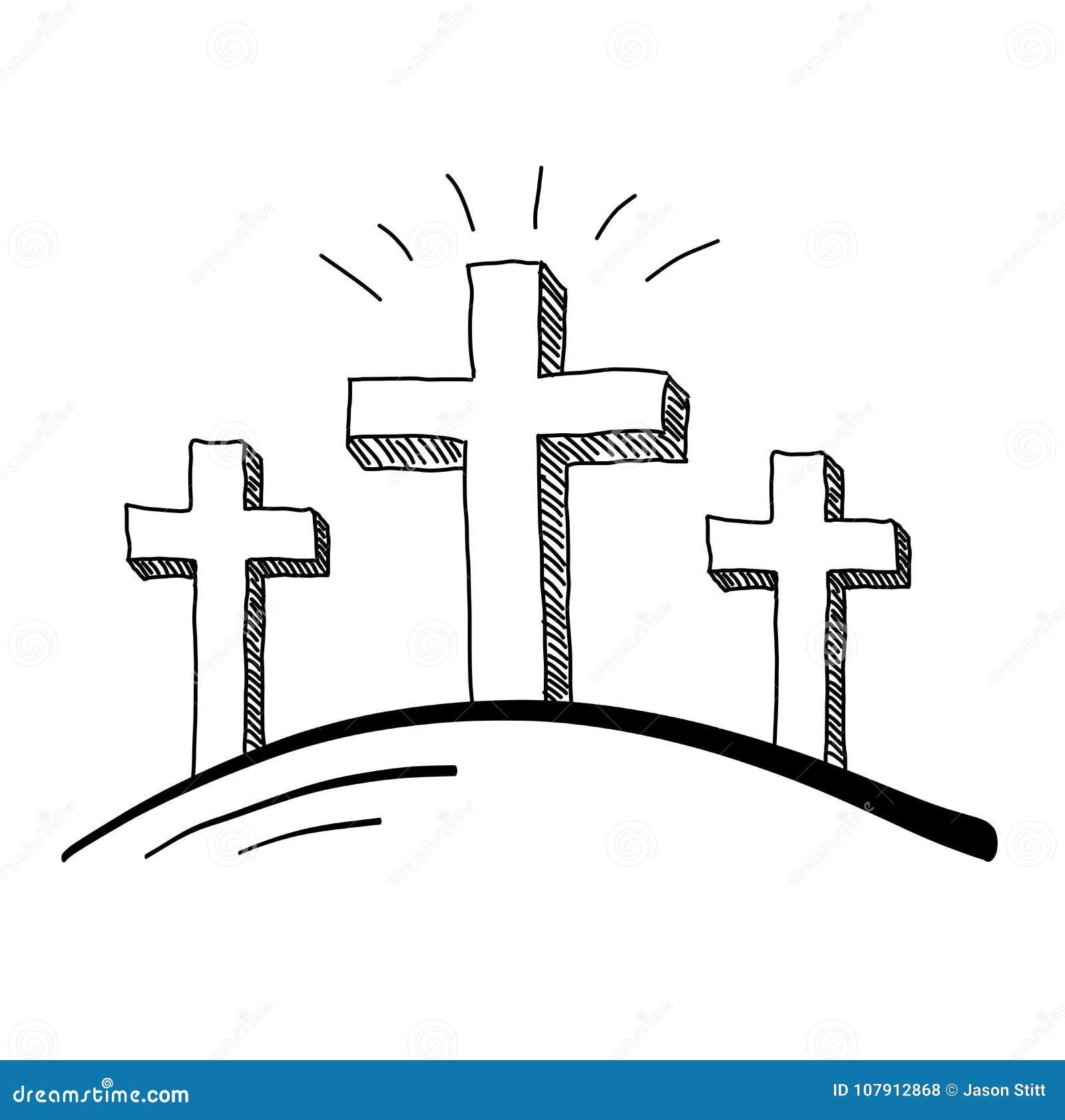 Garabato De Tres Cruces Ilustración Del Vector Ilustración