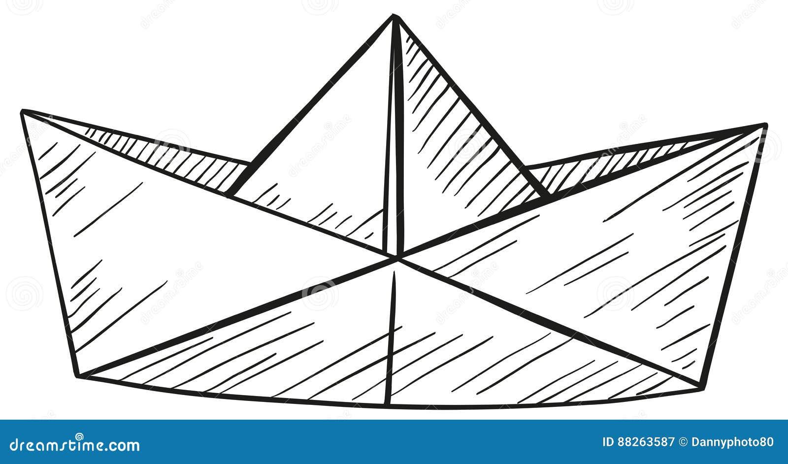 Garabato Del Barco De Papel Ilustración Del Vector Ilustración De Ilustraciones Barco 88263587