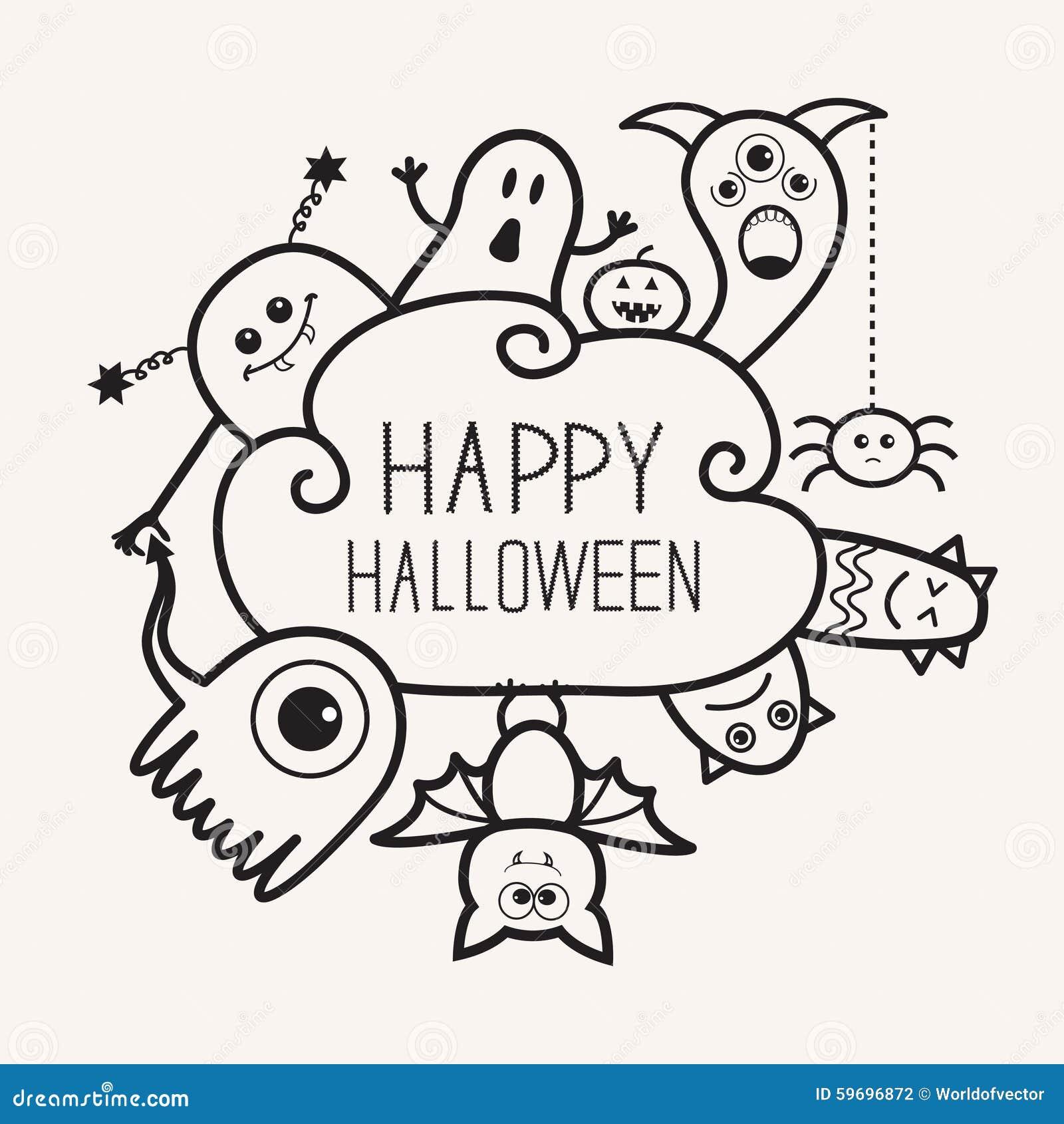 Asombroso Feliz Halloween Calabaza Para Colorear Friso - Dibujos ...