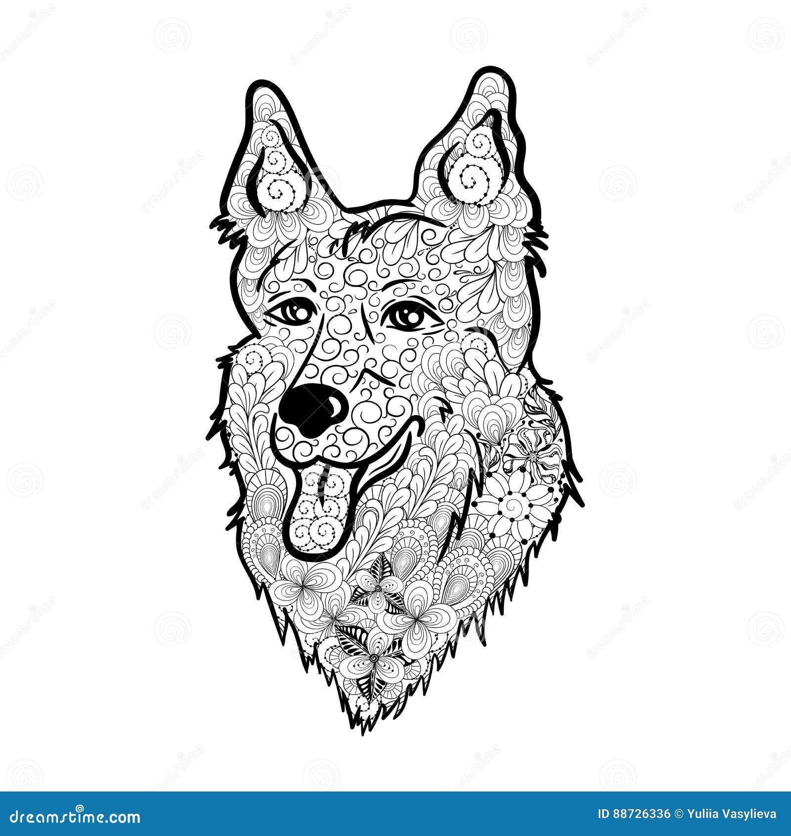 Garabato del perro de pastor