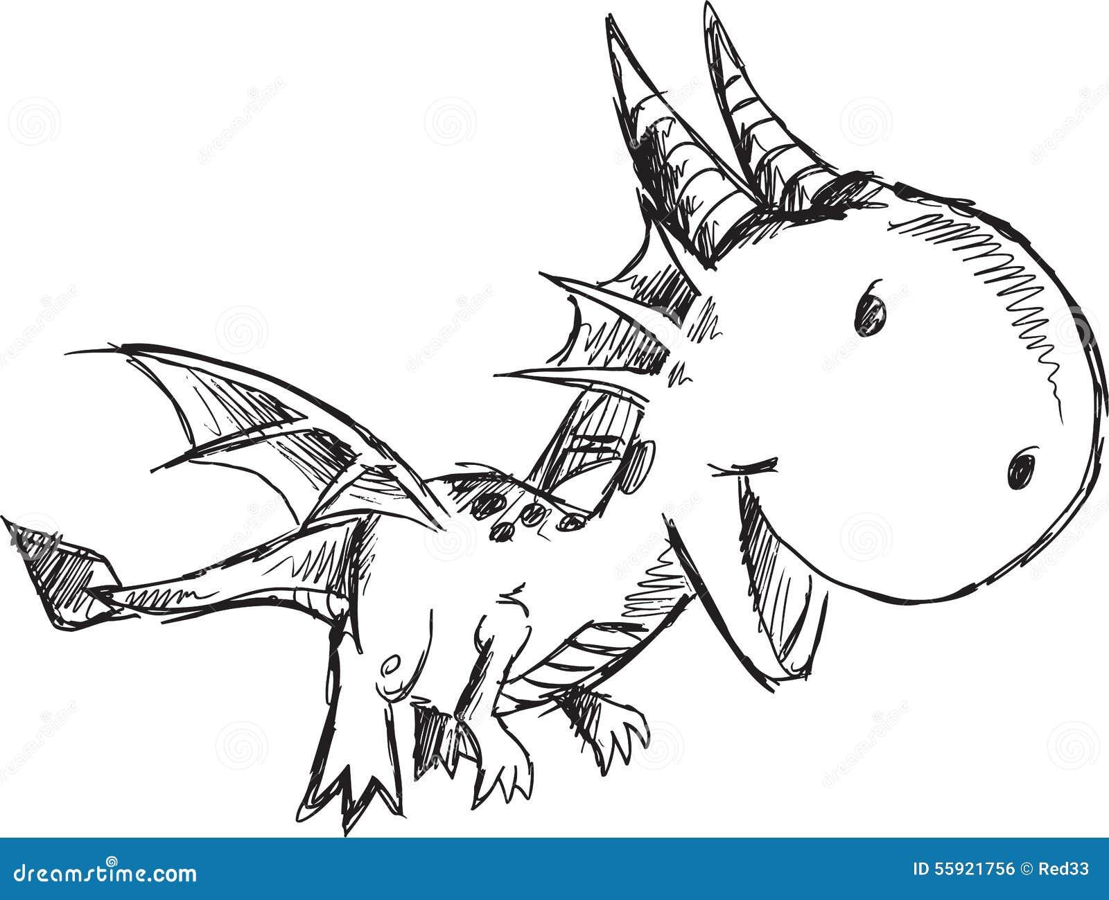 Garabato Dragon Vector