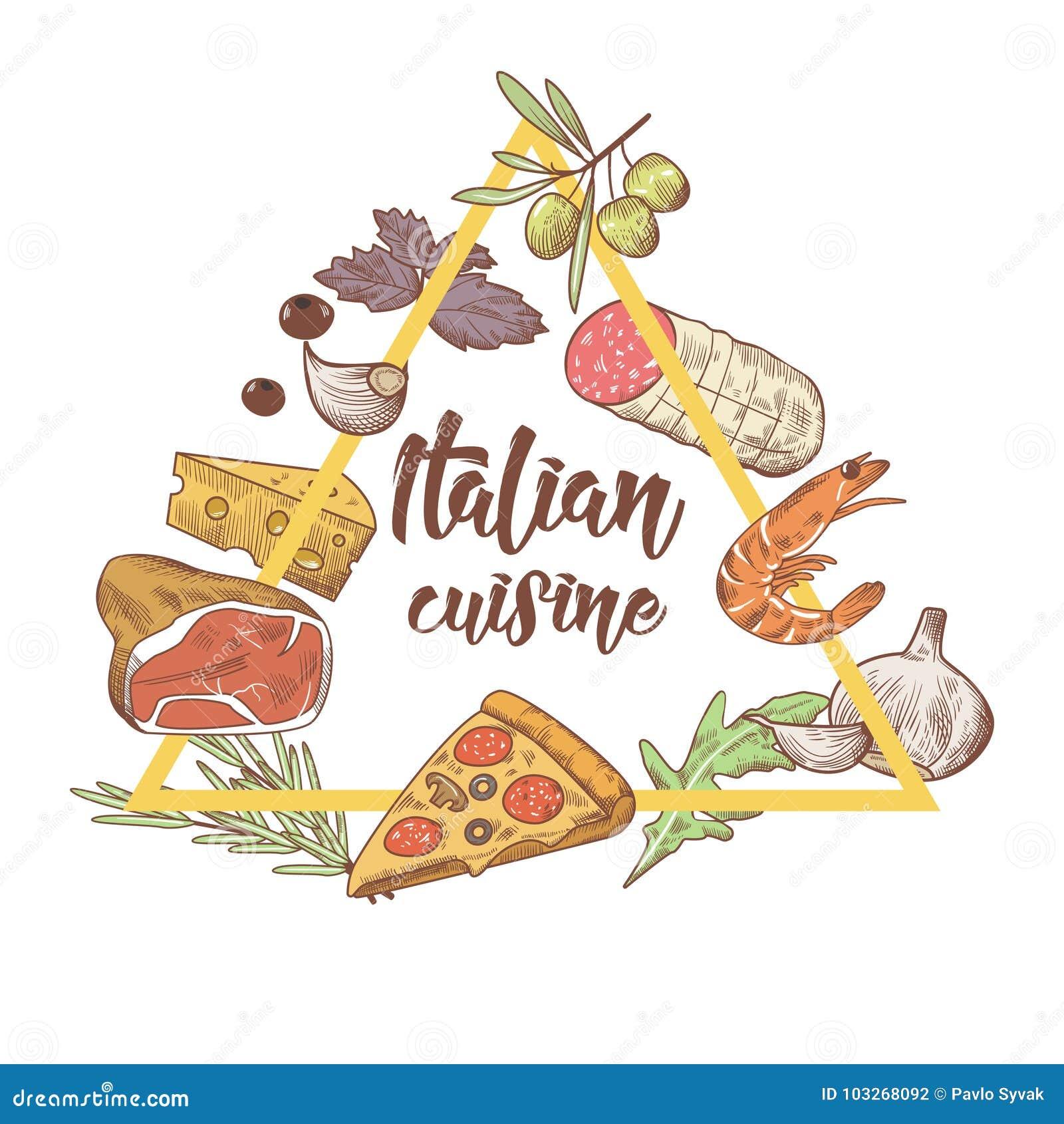 Garabato Italiano Del Bosquejo De La Cocina Plantilla Del Diseño Del ...