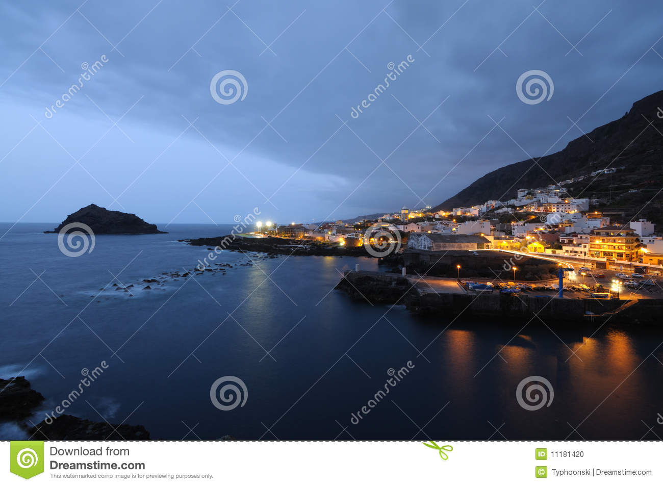 Garachico at night, Tenerife