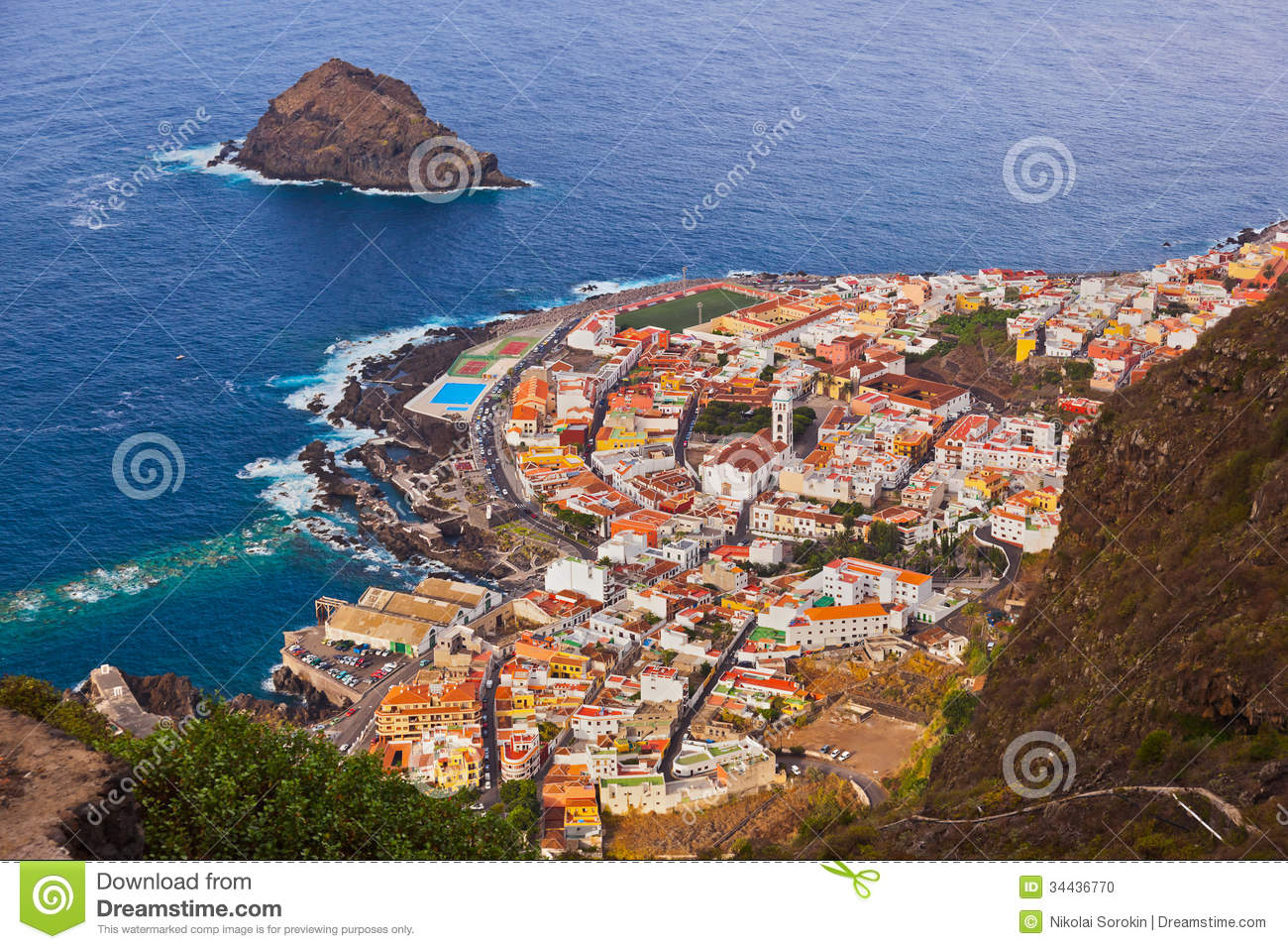 Garachico Spain  city pictures gallery : Garachico in Tenerife island Canary Spain.