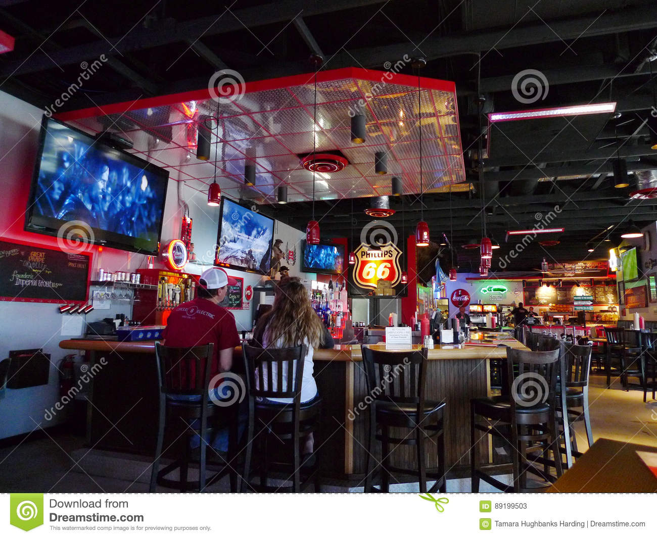 The Garage Burgers Beer Oklahoma City Ok Bar And Seating Editorial Stock Photo Image Of Bison Eatery 89199503