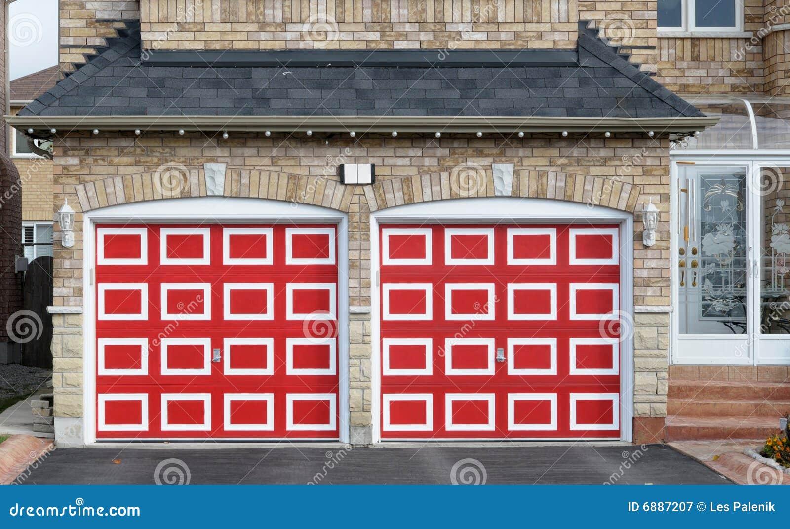 Garage doble rojo Checkered