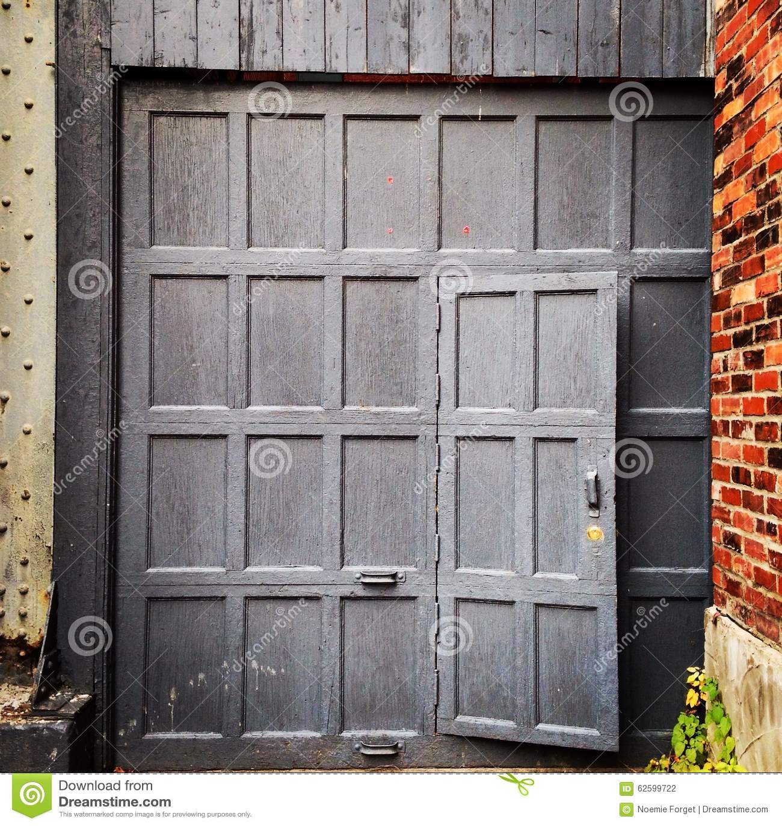 Garage Door In The Alley