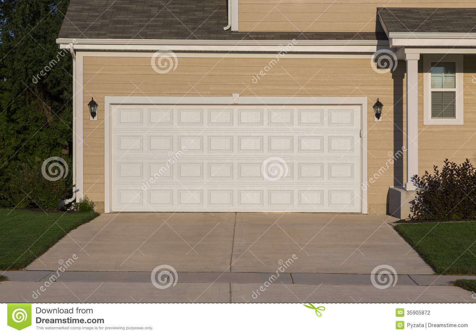 Garage Door Stock Photo Image Of Estate Decor Exterior