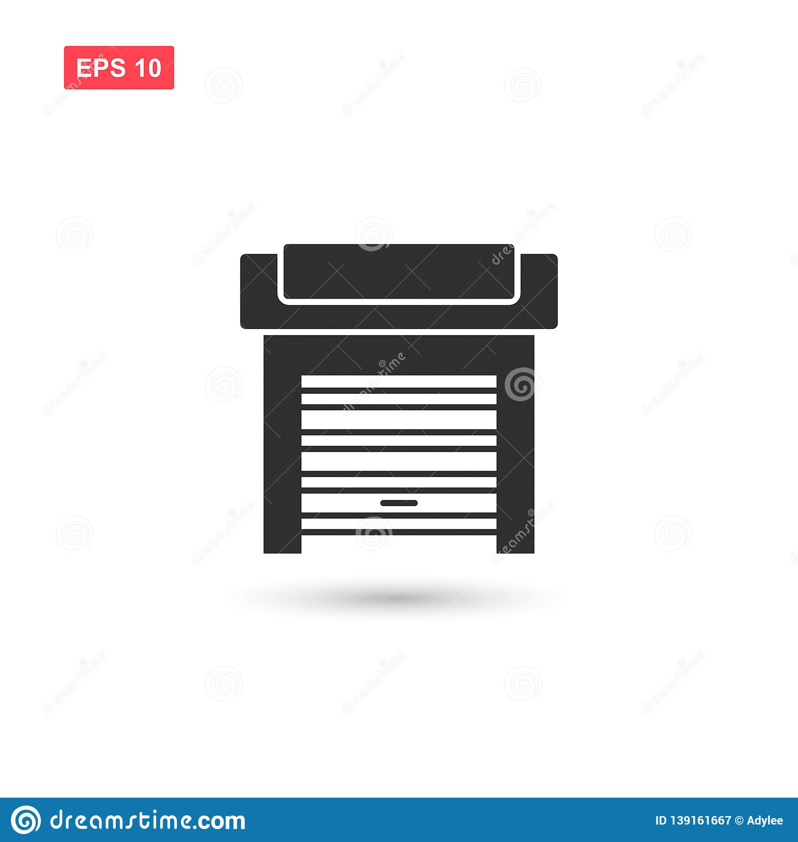 Garage door icon vector design isolated 5