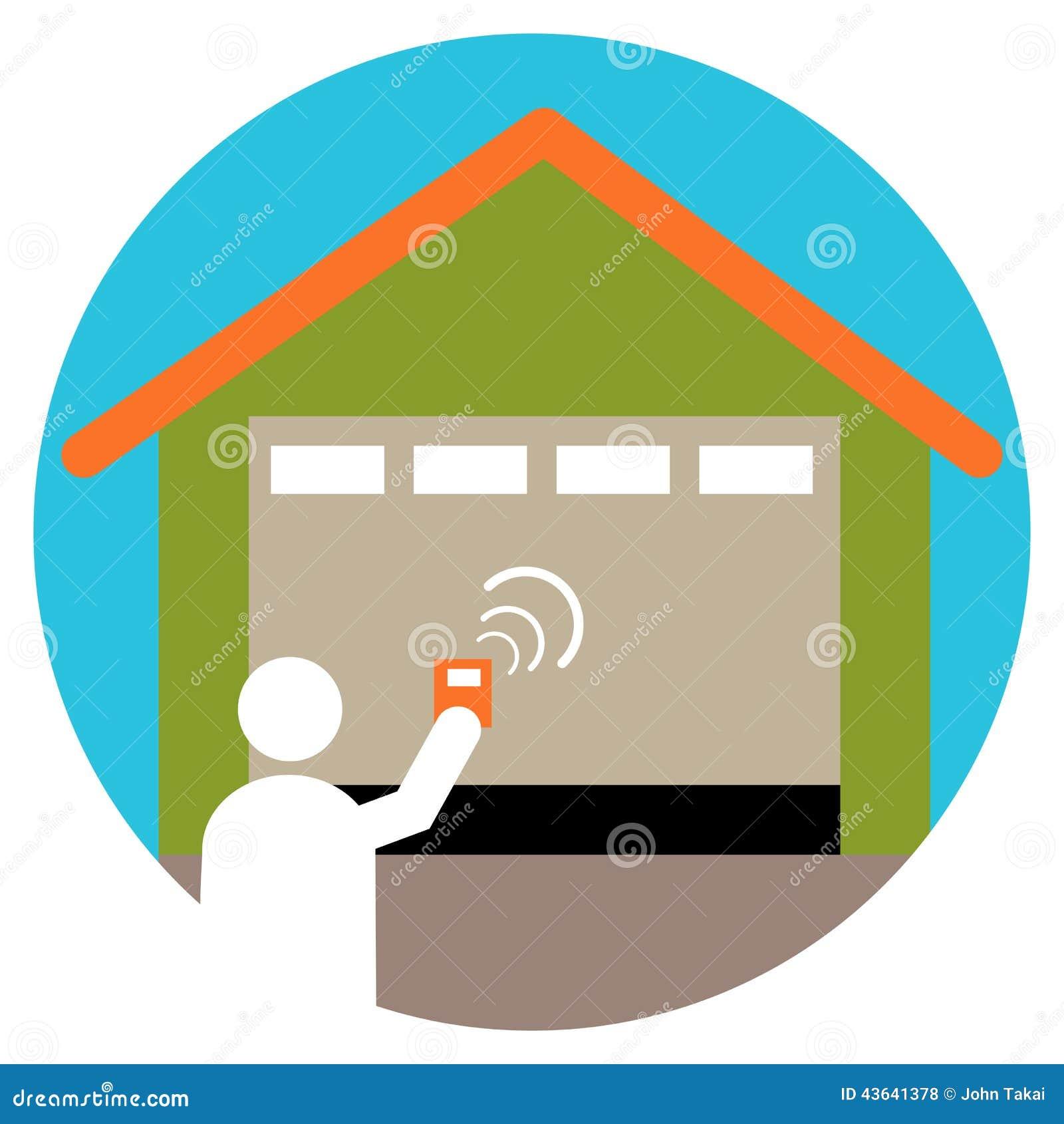 Garage door opener stock vector image