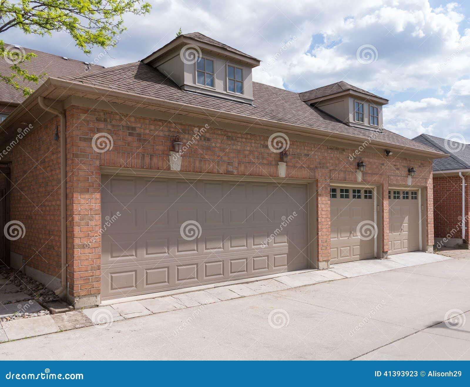 Garage Doors Stock Image Image Of Laneway Storage Brick 41393923