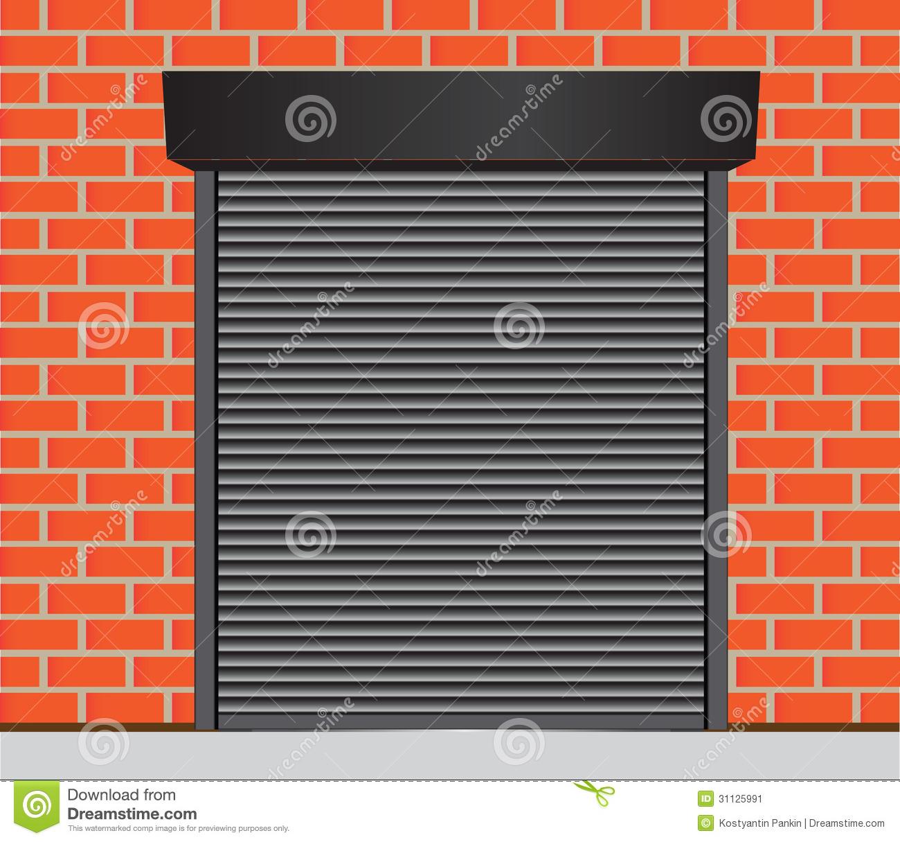 Garage Doors Stock Vector Image Of Background Empty