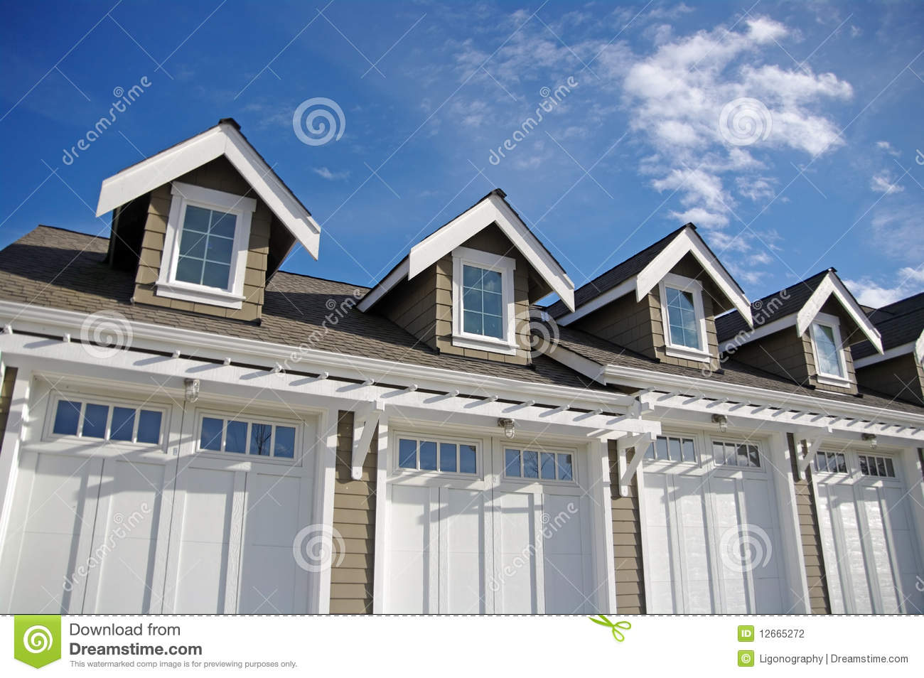 Garage With Dormers Stock Photography Image 12665272