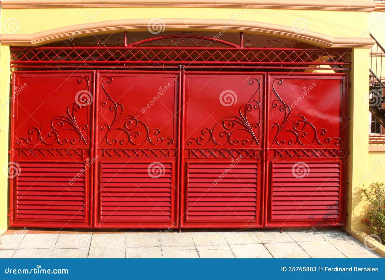 Home Design Gate Ideas: Garage Gate Stock Photos