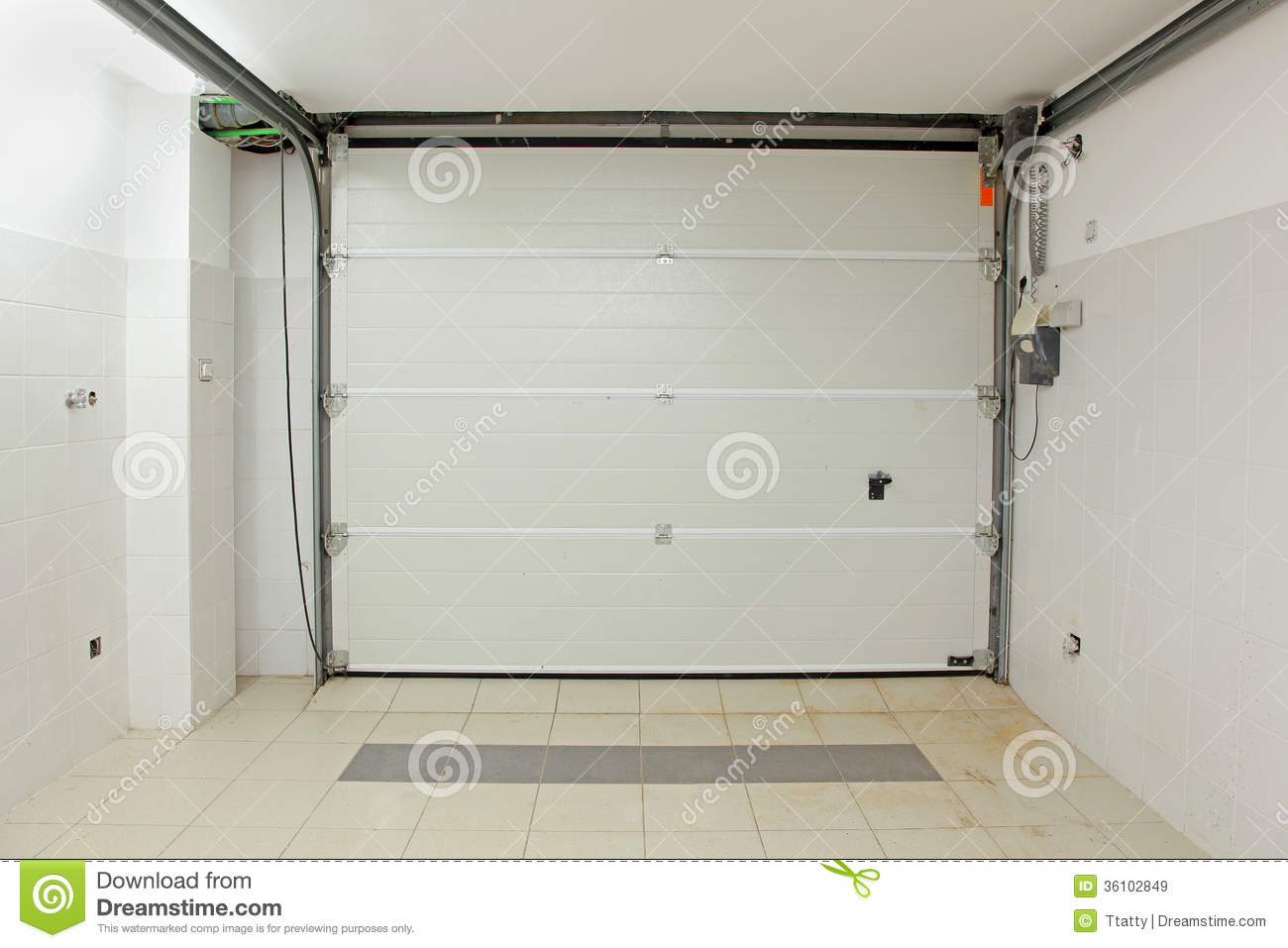 Photos From The Inside Of Garage Doors : Garage interior stock image of entrance