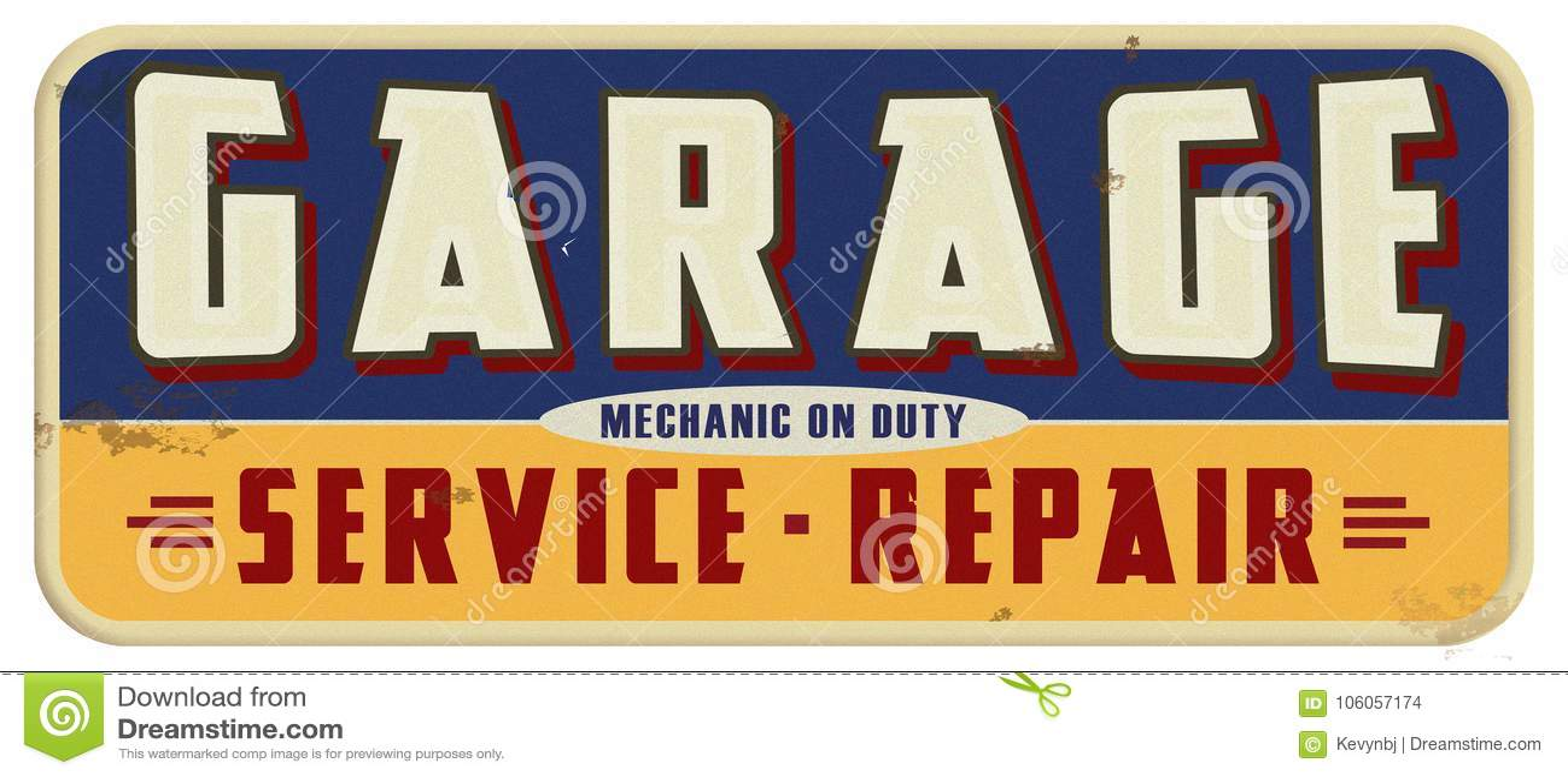 Garage Mechanic On Duty Sign