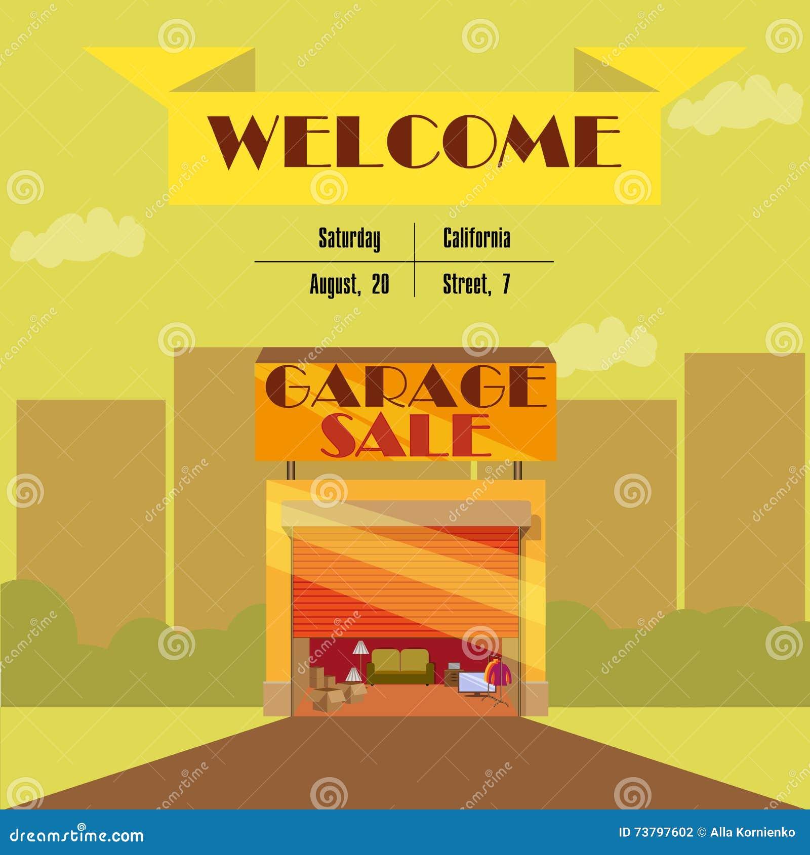 Garage o vendita di oggetti usati con gli elementi dei for Oggetti usati gratis