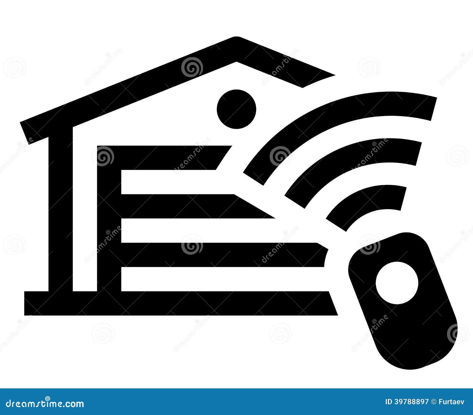 Garage remote control icon stock vector image