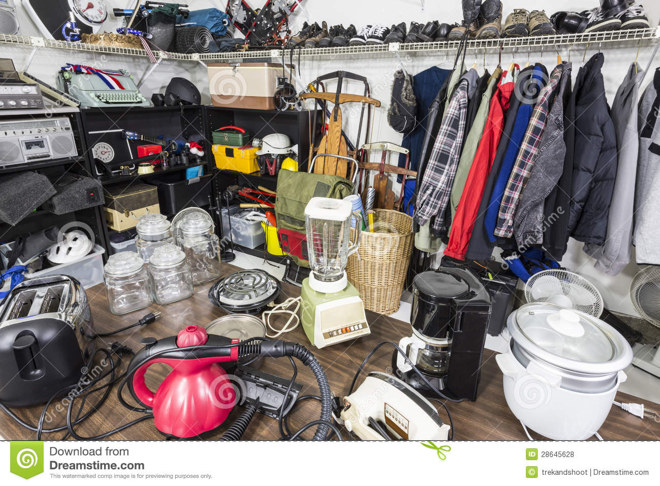 Garage Sale Stock Photo Image Of Clutter Toys Antique