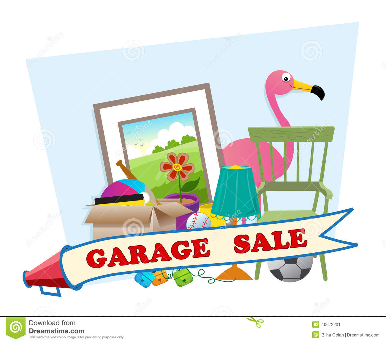 Garage sale stock vector image 40672201 for Cute stuff for sale