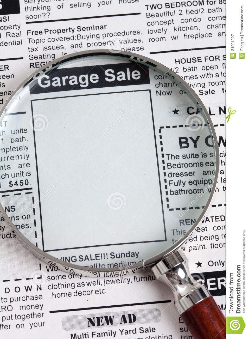 the newspaper classifieds garage sales
