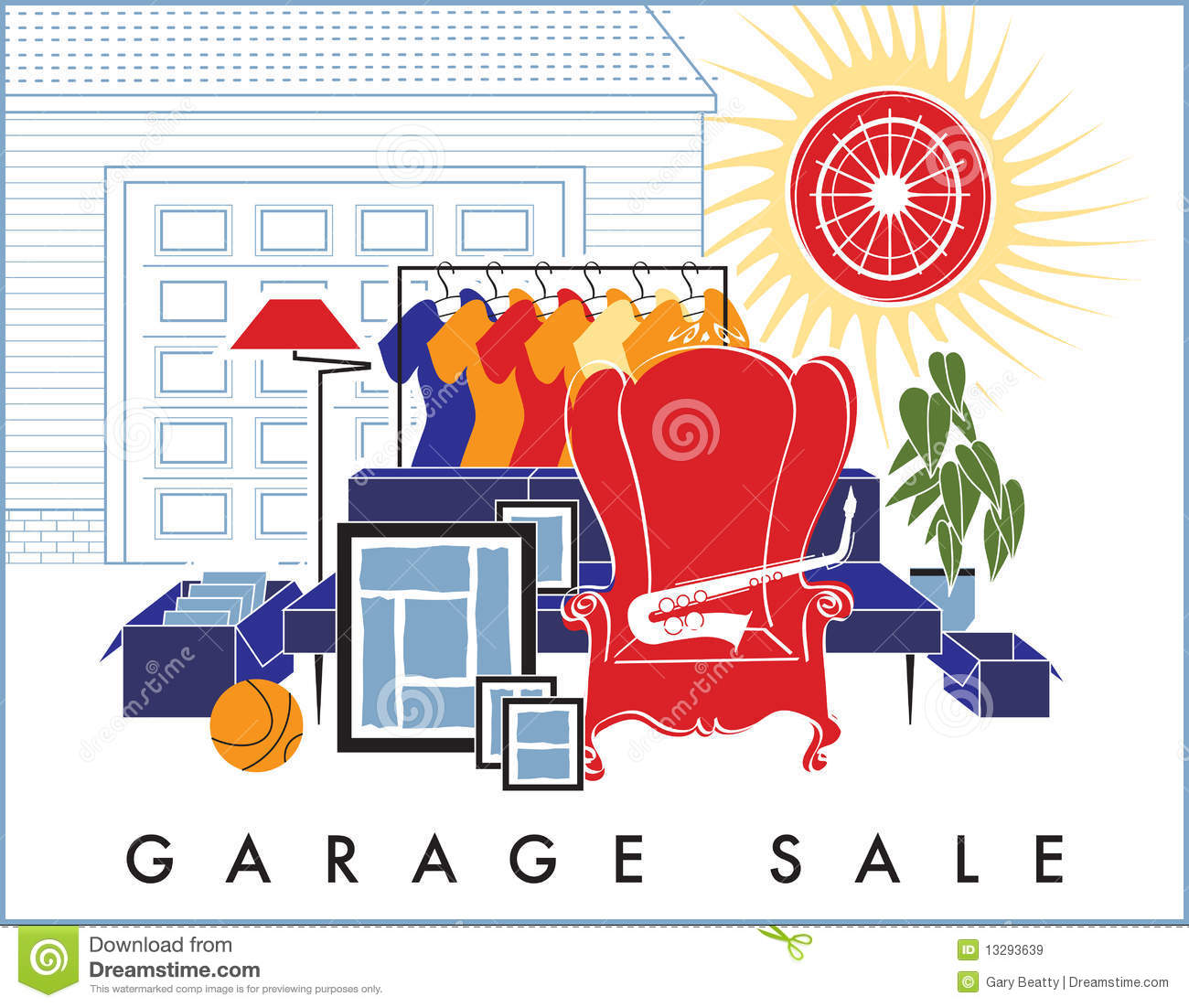 garage sale ad template
