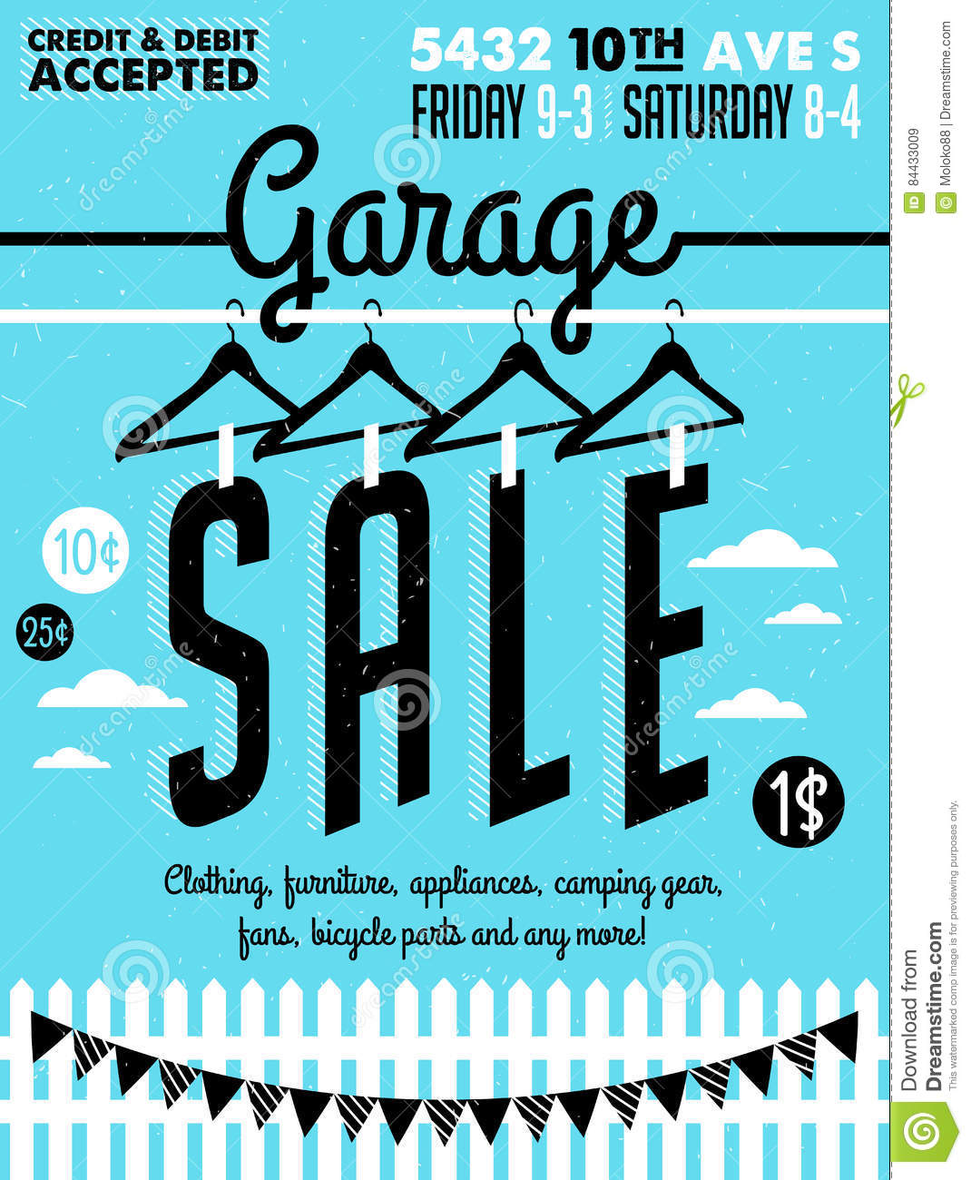 graphic about Printable Camping Signs named Garage Sale Poster inventory vector. Case in point of poster