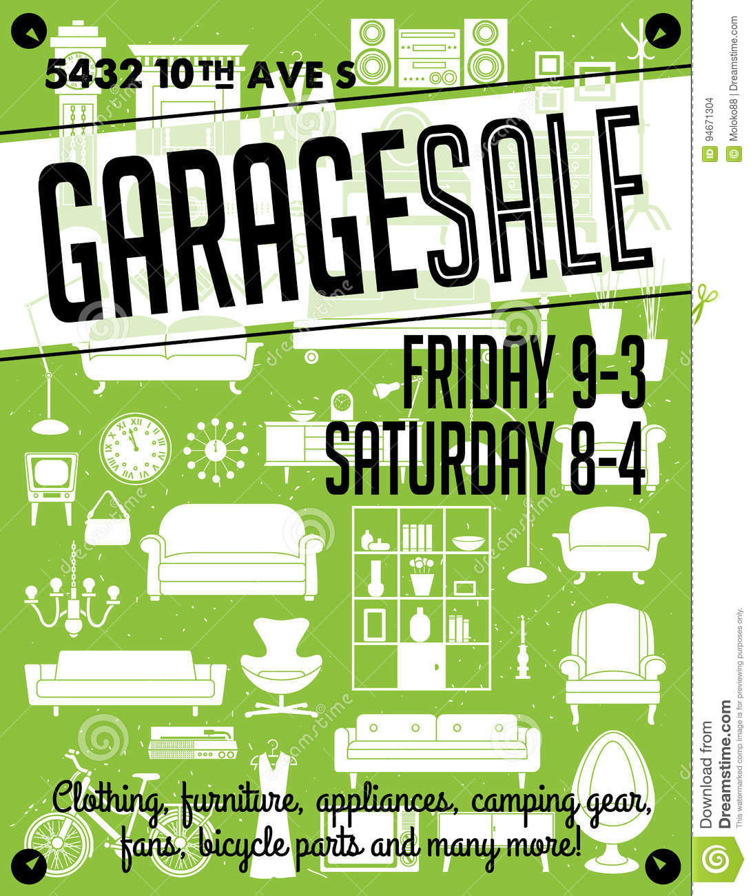 image relating to Printable Yard Signs identified as Garage Sale Poster inventory vector. Case in point of cleansing