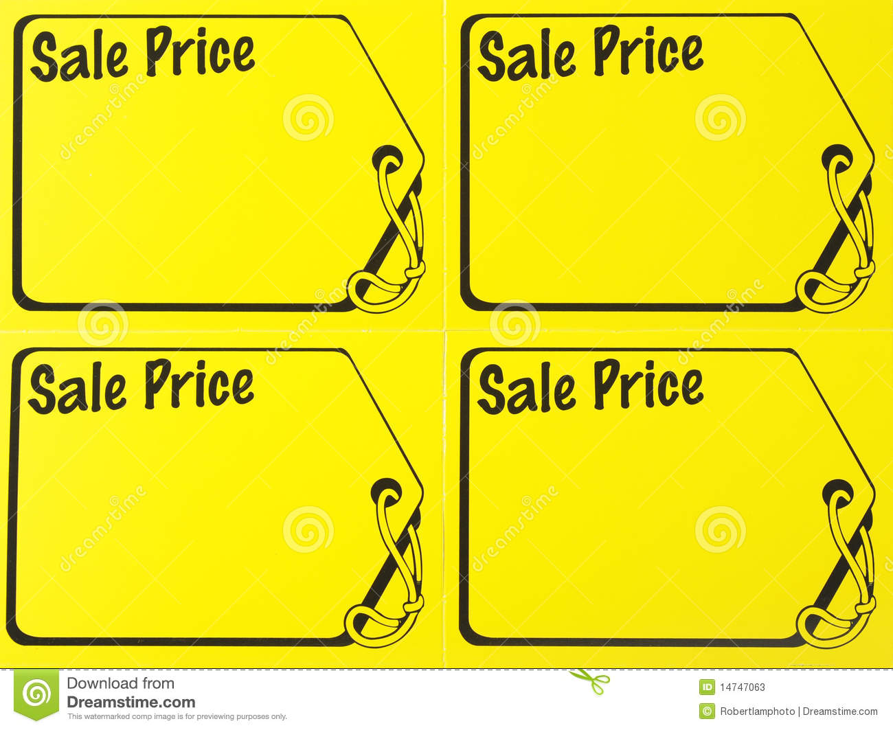 price signs template